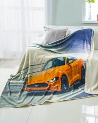Custom Car Printed Flannel Blankets
