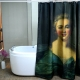Famous European Woman Painting Bath Shower Curtain
