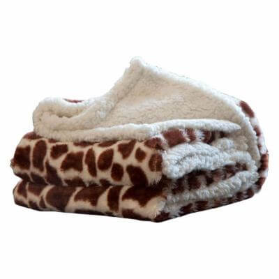 printed sherpa fleece throw blanket