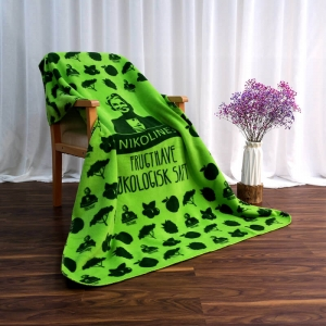 Custom Printed Green Polar Blanket
