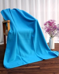 Custom Solid Color Blue Polar Fleece Blanket
