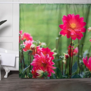 Custom Flower Print Shower Curtains Bulk