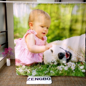 Personalized Shower Curtain with Photo Printed