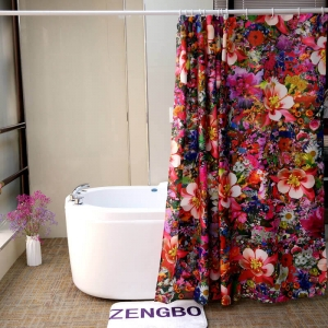 Custom Washable Beautiful Floral Shower Curtains