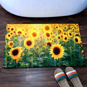 Beautiful Photo Print Custom Bathroom Rugs