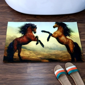 Personalized Horse Picture Printed Bath Mats Wholesale