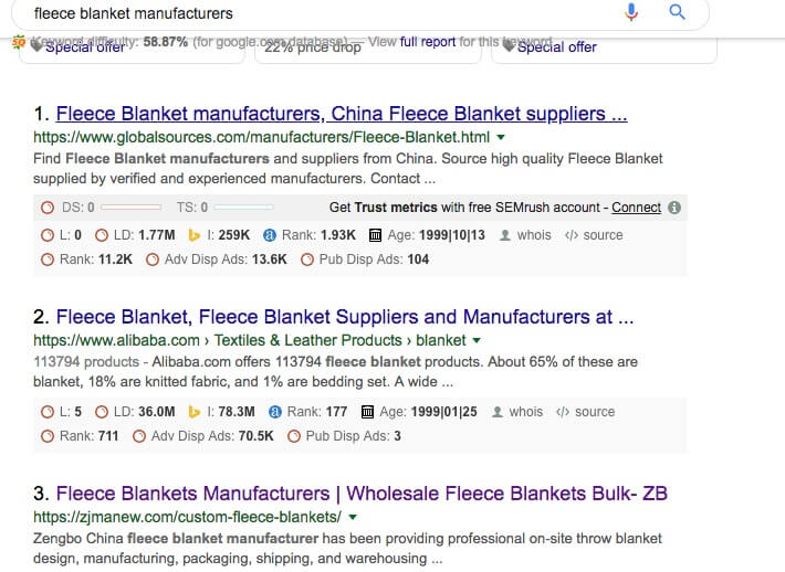 blanket manufacturer on google