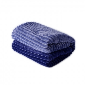 Customized Thick Striped Baby Blankets Sherpa Throws