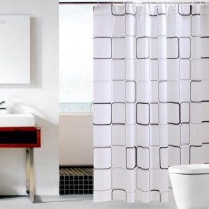 Eco Friendly Simple PEVA Bathroom Curtains