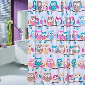 Personalized PEVA Owl Shower Curtains Wholesale