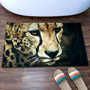 Custom Bath Mats with Tiger Printed