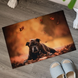 Custom Design Floor Mats with Dog Printed