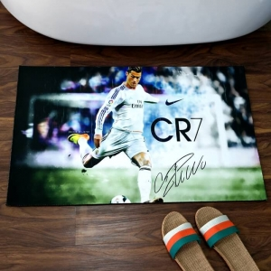 Custom Floor Mats with Soccer Player