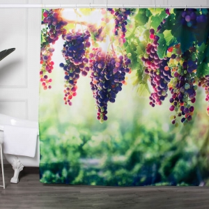 Custom Fruit Grape Printed Shower Curtain