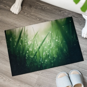 Custom Made Floor Mats with Grass Printed