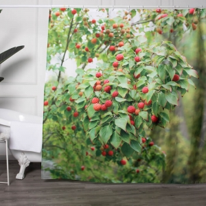 Custom Made Litchi Picture Printed Shower Curtains