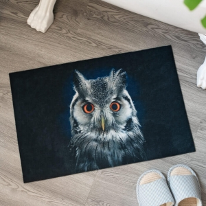 Custom Night Owl Printed Floor Mat Rugs