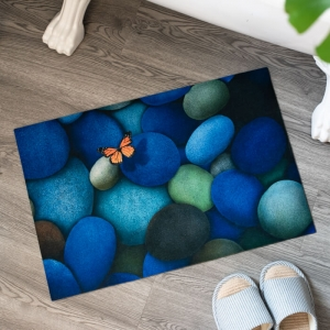 Customized Printed Butterfly Floor Mats