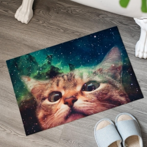 Personalized Cat Printed Floor Mats