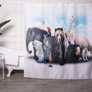 Shower Curtains with Animal Prints