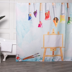 Wholesale Fabric Shower Curtains with Your Own Design