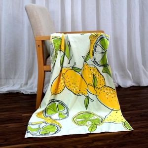 Custom Beach Towels with Cute Lemon Printed