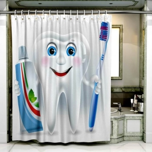custom cute pattern printed shower curtain5